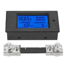 Digitale DC 100A Misuratore Elettrico Wattmetro Voltmetro Amperometro+100A Shunt