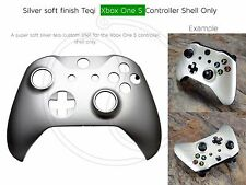New Xbox One S Controller Front Shell Silver soft Effect black mod housing case