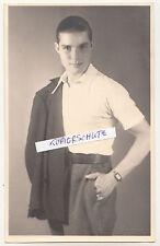Photo Ak Très Beau Hommes en Pose Ziviler Soldat 2 Wk WWII Gay Rare ! (F2045