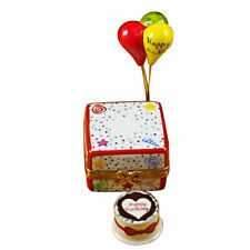 New Rochard Birthday Cake With Ballons & Confetti Limoges Box Authorized Dealer