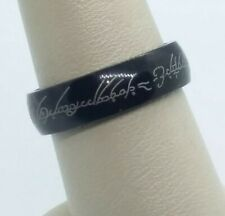 Lord Of The Rings The One Ring Hobbit Elvish Love Sz 7.5 Wedding Band Ring A9-1