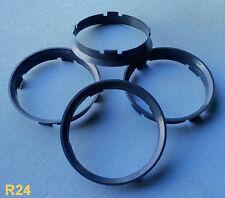 (R24) 4 Stück  Zentrierringe  74,1 / 72,6 mm anthrazit für Alufelgen / BMW