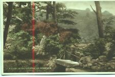 A view in The Trossachs Ashover Derbyshire unused 1920s postcard