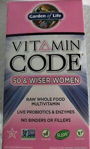 Vitamin Code- 50 & Wiser Women's Multi - 240 Vegetarian Capsules exp 2022