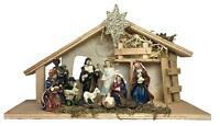 Nativity Set - House Set of 11 Nativity Figurines - Baby Jesus, Mary, Joseph, Sh