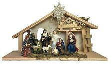 Nativity Set - House Set of 11 Nativity Figurines - Baby Jesus, Mary, Joseph, Sh