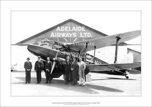 "ADELAIDE AIRWAYS A3 PRINT – DH.89A DRAGON RAPIDE – POSTER 42 x 29 cm 16"" x 12"""