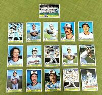 1979 TOPPS BASEBALL BALTIMORE ORIOLES COMPLETE TEAM SET 27 CARDS EX/NM PALMER
