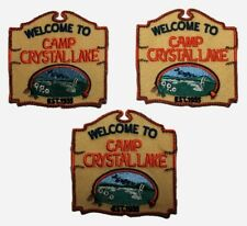 Friday the 13th Camp Crystal Lake Embroidered Iron On Patch Set of (3) Patches