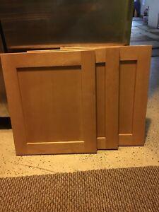 "(1) Solid Maple Cabinet Door 14 1/2"" X 17 1/2"" Natural Sandalwood Burnt Sienna"