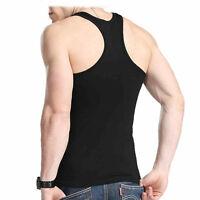 Cotton Men Sleeveless Muscle Sports A-Shirt Tank Top Wife Beater Undershirt Vest