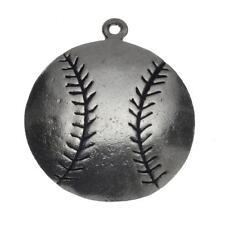 Vintage Sterling Silver Baseball Charm for Bracelet or Pendant 925 2.6g C-430