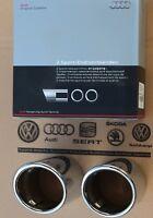 Audi Q7 4L original Chrom Auspuffblenden Endrohre Auspuff Blenden Endrohrblenden