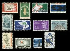 #1230-1241: 1963 Commemorative Set, 12 Stamps, Mint NH ANY 4=