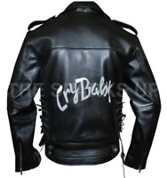 Johnny Depp Black Leather Cry Baby Motorcycle Leather Jacket - BIG SALE