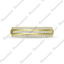 Cz Engagement Wedding Band size 5-10 14K Gold Over 925 Silver White Topaz