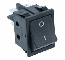 Black Large On-Off Rectangle Rocker Switch DPST