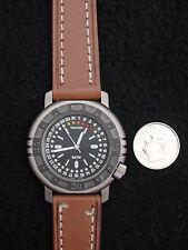 Simon Chang Men's Watch Leather Stainless 5ATM, France, 7 Jewel Quartz