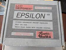Vintage Epsilon Vii Hifonics Equalizer 4 Band. Excellent shape. Display model