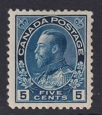 CANADA 1912 MINT #111, 5c KING GEORGE V ADMIRAL ISSUE !! A96