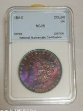 Morgan Silver Dollar 1884-O (Rainbow Toning) -  MS