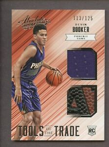 2015-16 Panini Absolute #13 Devin Booker RC Rookie Dual Player-used Ball 113/125