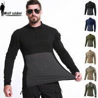 Army Military Men's Combat T-shirt Long Sleeve Tactical Casual Shirt Camouflage