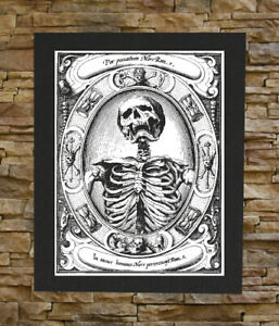 Memento Mori Canvas Print / Back Patch -  Remember Death Skull Skeleton Occult
