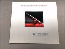 1987 1986 Vw Volkswagen Quantum And Syncro Factory Car Sales Brochure Catalog