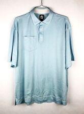 Footjoy Polo Shirt Mens Size XL Blue Short Sleeve Pocket Collared FJ Golf
