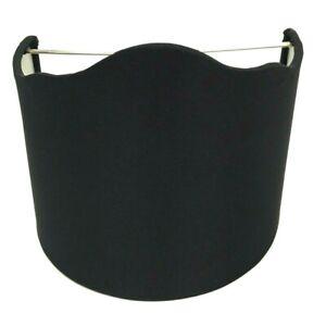 "Upgradelights Clip Lamp Shade in Black, Wall Sconce Half-Shade Fabric Shield 6"""