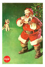 1961 vintage Ad, Coca Cola Classic Christmas Ad, Santa and pet Dog 101013