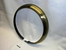 """Antique Brass Finished Trim Ring for Early Harley FL/FLH 7"""" Headlights, Bobber"""
