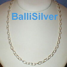 """Cable Chain Necklace 30"""" Sterling Silver 925 1mm Thick"""