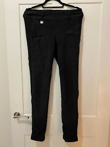 Ladies Black Daily Sports Stretch Golf Trousers - Size 16 32L (Used)