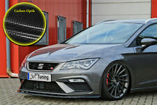 Spoilerschwert Frontspoiler ABS Seat Leon 5F Facelift FR mit ABE Carbon Optik