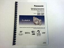 PANASONIC LUMIX DMC-TZ60 TZ61 PRINTED A4 INSTRUCTION MANUAL USER GUIDE 329 PAGES
