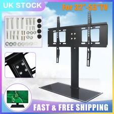 "32""- 55"" Universal Desk Top TV Stand Bracket VESA Mount LCD LED Plasma UK STOCK"