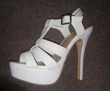 BNWT New look womens gladiator white heels sandles size 3