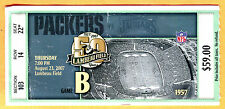 8/23/07 PACKERS/JAGUARS FOOTBALL TICKET STUB-BRETT FAVRE/AARON RODGERS
