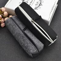 Fashion Felt Pencil Case Travel Portable Cosmetic Bag Stationery School Office