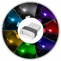 4X Mini USB LED Light Colorful Interior Light For Car Atmosphere Ambient Lamp US