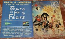 TEARS FOR FEARS ORIGINAL SPANISH MAGAZINE ADVERT 2 PAGES