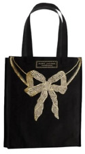 Marc Jacobs Fragrances Women Tote Bag Black Canvas Gold Bow Handbag