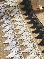 """Laces Galore"" ~Pure White Guipure Venise Lace Trim 2.5""/7 cm Craft Trim Sew"