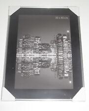 Cadre Photo Sous Verre Contours Silver Metal 30x40 cm NEUF