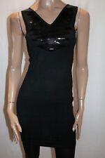 Spicysugar Brand Black Sequins Detail Bodycon Dress Size 10 BNWT #TQ06