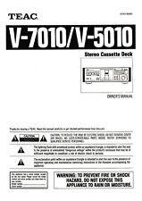 Bedienungsanleitung-Operating Instructions für Teac V-7010,V-5010