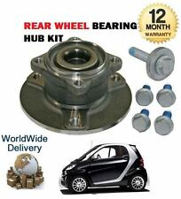 FOR SMART FORTWO COUPE CABRIO 2004--> NEW REAR WHEEL BEARING HUB KIT
