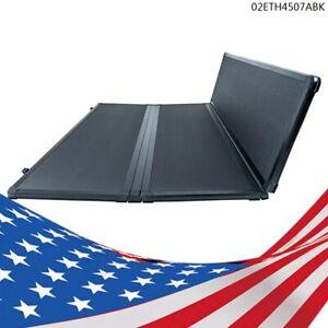 6.6 FT Bed Hard Tri-Fold Tonneau Cover Fit For 14-18 Chevy Silverado GMC Sierra